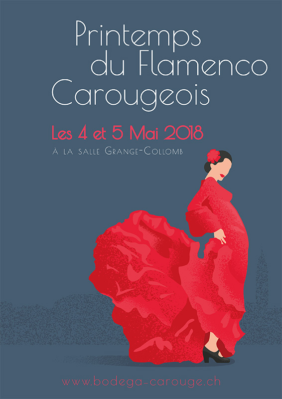Flyer Printemps du Flamenco Carougeois
